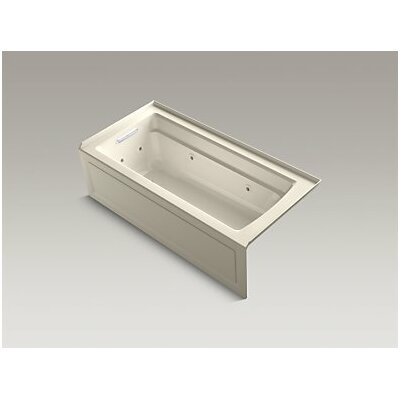 Archer Whirlpool with Integral Apron, Left-Hand Drain and Heater Finish: Almond