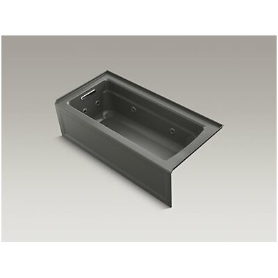 Archer Whirlpool with Integral Apron, Left-Hand Drain and Heater Finish: Thunder Grey
