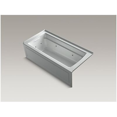 Archer Whirlpool with Integral Apron, Left-Hand Drain and Heater Finish: Ice Grey