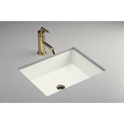 Undermount Bathroom Sink : KOHLER Verticyl Rectangle Undermount Bathroom Sink in White 2882-0