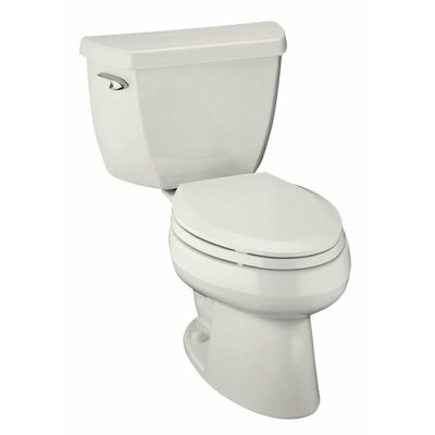 Wellworth Classic Two-Piece Elongated 1.0 GPF Toilet with Pressure Lite Flushing Technology, Tank Cover Locks and Left-Hand Trip Lever, Less Seat Finish: White