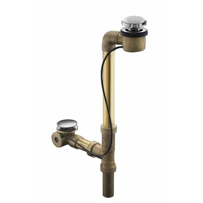 Clearflo Horizontal 1.5 Leg Tub Drain With Overflow Finish: Vibrant French Gold