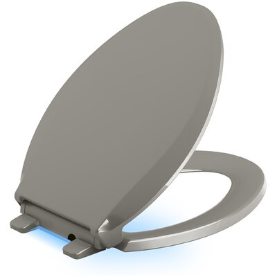 Cachet Nightlight Quiet-Close with Grip-Tight Elongated-Front Toilet Seat Finish: Cashmere