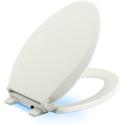 Cachet Nightlight Quiet-Close with Grip-Tight Elongated-Front Toilet Seat Finish: Dune