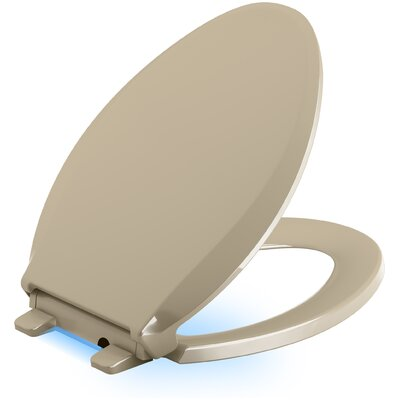 Cachet Nightlight Quiet-Close with Grip-Tight Elongated-Front Toilet Seat Finish: Mexican Sand