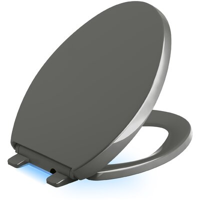Reveal Nightlight Quiet-Close with Grip-Tight Elongated-Front Toilet Seat Finish: Thunder Grey