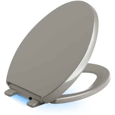 Reveal Nightlight Quiet-Close with Grip-Tight Elongated-Front Toilet Seat Finish: Cashmere