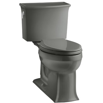 Archer 2 Piece Elongated Toilet with Aquapiston Flush Technology Finish: Thunder Grey