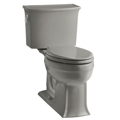 Archer 2 Piece Elongated Toilet with Aquapiston Flush Technology Finish: Cashmere