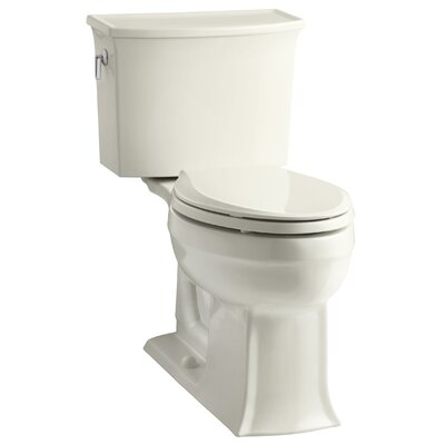 Archer 2 Piece Elongated Toilet with Aquapiston Flush Technology Finish: Biscuit