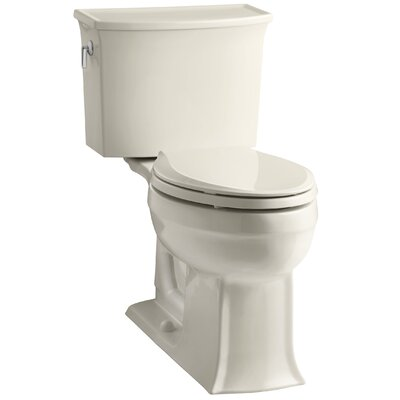 Archer 2 Piece Elongated Toilet with Aquapiston Flush Technology Finish: Almond