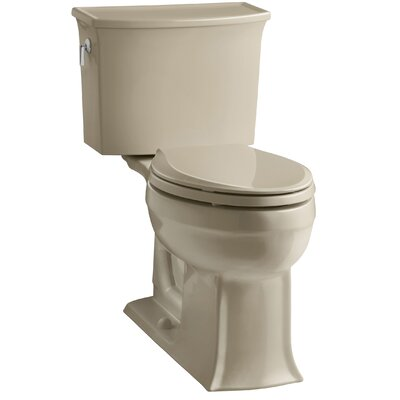 Archer 2 Piece Elongated Toilet with Aquapiston Flush Technology Finish: Mexican Sand