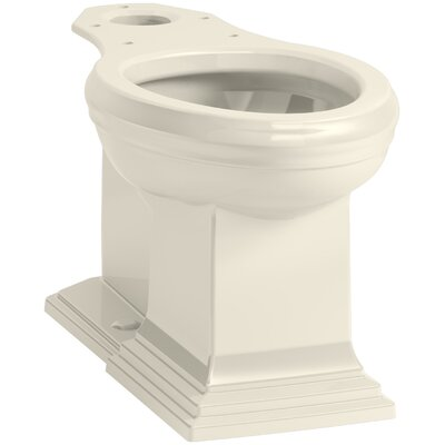 Memoirs Comfort Height Elongated Toilet Bowl with Concealed Trapway Finish: Almond