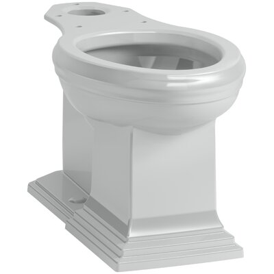 Memoirs Comfort Height Elongated Toilet Bowl with Concealed Trapway Finish: Ice Grey