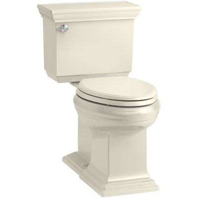 Memoirs Stately Comfort Height 2-Piece Elongated 1.28 GPF Toilet with Aquapiston Flush Technology and Left-Hand Trip Lever, Concealed Trapway Finish: Almond