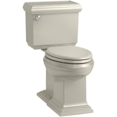 Memoirs Classic Comfort Height 2-Piece Elongated 1.28 GPF Toilet with Aquapiston Flush Technology and Left-Hand Trip Lever, Concealed Trapway Finish: Sandbar