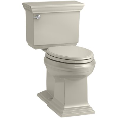 Memoirs Stately Comfort Height 2-Piece Elongated 1.28 GPF Toilet with Aquapiston Flush Technology and Left-Hand Trip Lever, Concealed Trapway Finish: Sandbar