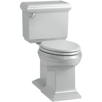 Memoirs Classic Comfort Height 2-Piece Elongated 1.28 GPF Toilet with Aquapiston Flush Technology and Left-Hand Trip Lever, Concealed Trapway Finish: Ice Grey