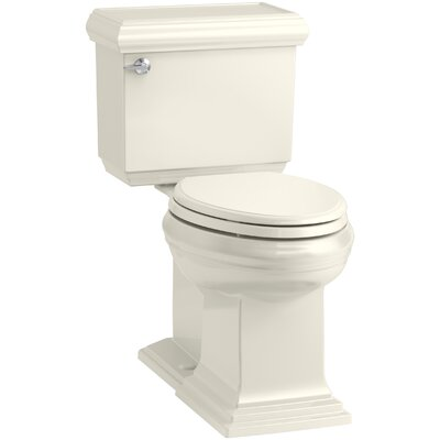 Memoirs Classic Comfort Height 2-Piece Elongated 1.28 GPF Toilet with Aquapiston Flush Technology and Left-Hand Trip Lever, Concealed Trapway Finish: Biscuit
