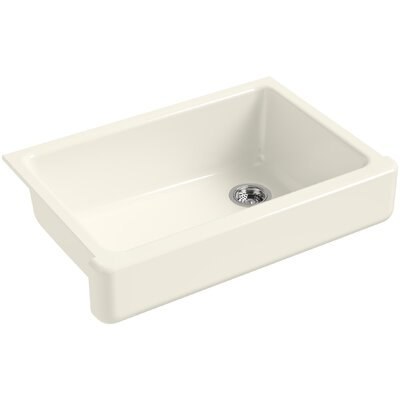 Whitehaven Self-Trimming 32-1/2 x 21-9/16 x 9-5/8 Under-Mount Single-Bowl Sink with Short Apron Finish: Biscuit