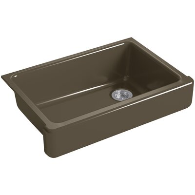Whitehaven Self-Trimming 32-1/2 x 21-9/16 x 9-5/8 Under-Mount Single-Bowl Sink with Short Apron Finish: Suede
