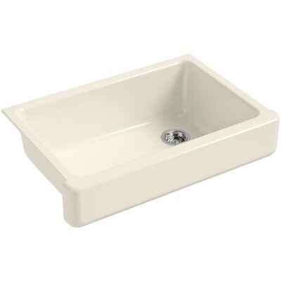 Whitehaven Self-Trimming 32-1/2 x 21-9/16 x 9-5/8 Under-Mount Single-Bowl Sink with Short Apron Finish: Almond