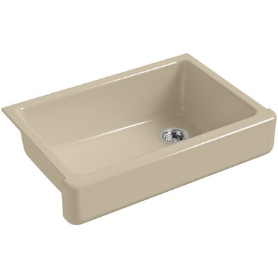 Whitehaven Self-Trimming 32-1/2 x 21-9/16 x 9-5/8 Under-Mount Single-Bowl Sink with Short Apron Finish: Mexican Sand