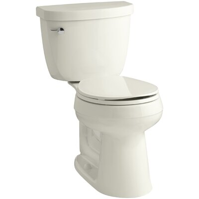 Cimarron Comfort Height Two-Piece Round-Front 1.6 GPF Toilet with Aquapiston Flush Technology and Left-Hand Trip Lever Finish: Biscuit