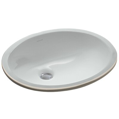 Caxton Oval Undermount Bathroom Sink with Overflow Sink Finish: Ice Grey