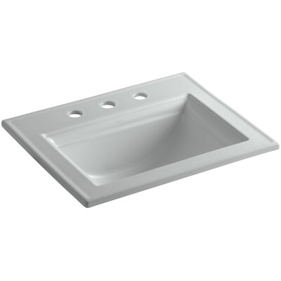 Memoirs� Ceramic Rectangular Drop-In Bathroom Sink with Overflow Finish: Ice Grey