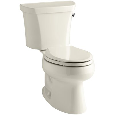 Wellworth Two-Piece Elongated 1.6 GPF Toilet with Class Five Flush Technology and Right-Hand Trip Lever Finish: Almond