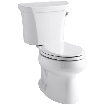 Wellworth Two-Piece Elongated 1.6 GPF Toilet with Class Five Flush Technology and Right-Hand Trip Lever Finish: White