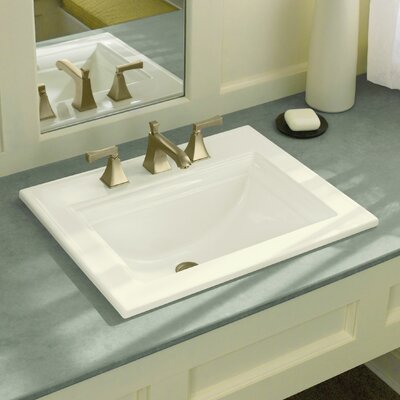 Memoirs� Ceramic Rectangular Drop-In Bathroom Sink with Overflow Finish: White