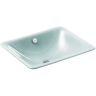 Iron Plains Rectangular Undermount Bathroom Sink with Overflow Finish: Vapour Green