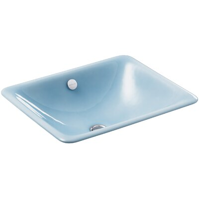 Iron Plains Rectangular Undermount Bathroom Sink with Overflow Finish: Vapour Blue
