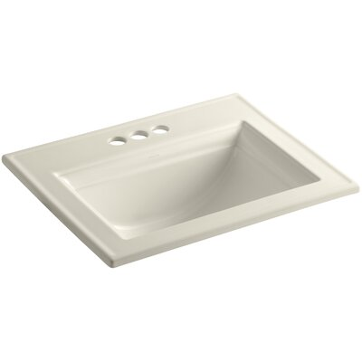 Memoirs� Ceramic Rectangular Drop-In Bathroom Sink with Overflow Finish: Almond