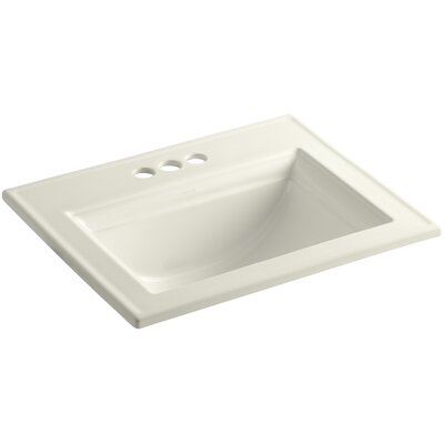 Memoirs� Ceramic Rectangular Drop-In Bathroom Sink with Overflow Finish: Biscuit