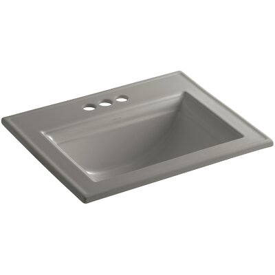 Memoirs� Ceramic Rectangular Drop-In Bathroom Sink with Overflow Finish: Cashmere