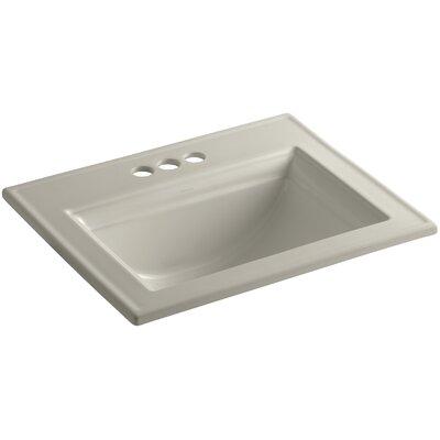 Memoirs� Ceramic Rectangular Drop-In Bathroom Sink with Overflow Finish: Sandbar
