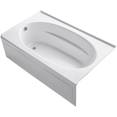 Windward 72 x 42 Air Bathtub Finish: Biscuit, Drain Location: Left
