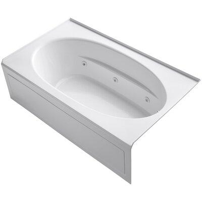 Windward 72 x 42 Air / Whirlpool Bathtub Finish: White