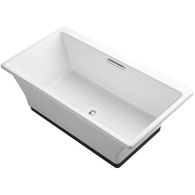 Reve 67 x 36 Freestanding Bathtub with Brilliant Ash Base