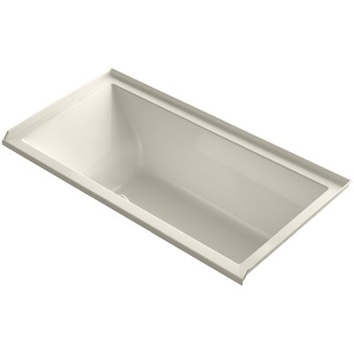 Underscore 60 x 30 Soaking Bathtub Finish: Almond, Drain Location: Right