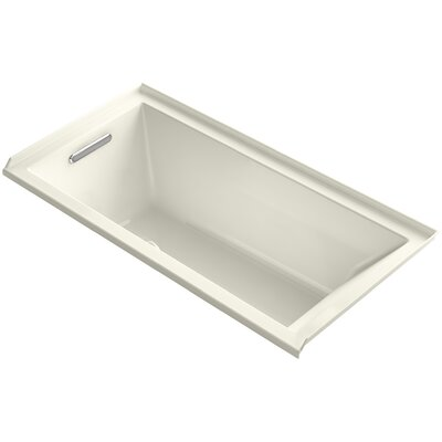 Underscore 60 x 30 Soaking Bathtub Finish: Biscuit, Drain Location: Left