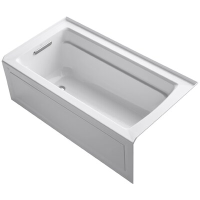 Archer 60 x 32 Soaking Bathtub Finish: White, Drain Location: Left