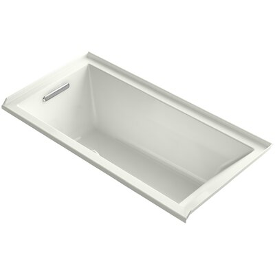 Underscore 60 x 30 Soaking Bathtub Finish: Dune, Drain Location: Left