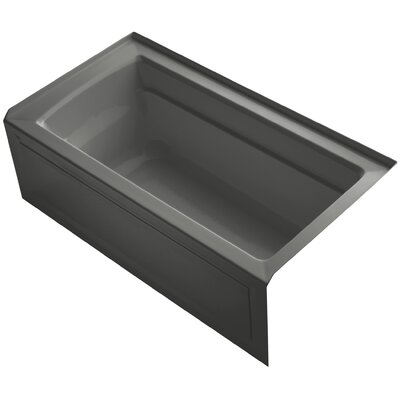 Archer 60 x 32 Soaking Bathtub Finish: Thunder Grey, Drain Location: Right