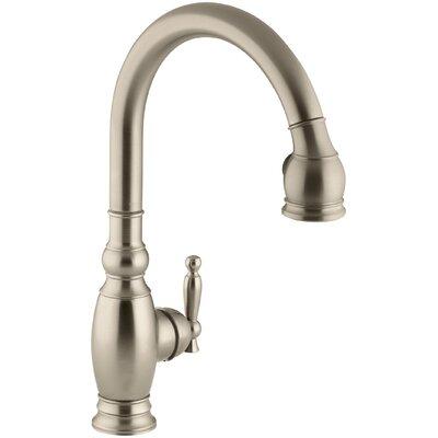 Vinnata Pull Down Single Handle Kitchen Faucet Finish: Vibrant Brushed Bronze