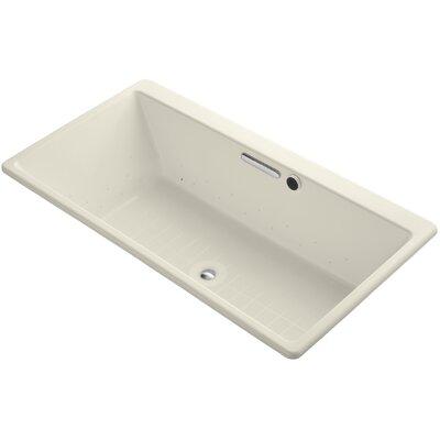 Reve 66.94 x 36 Bubblemassage Bath Bath Finish: Almond, Jet Finish: Polished Chrome
