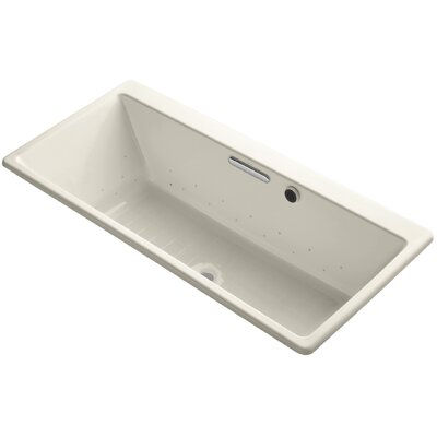 Reve 67 x 32 Air Bathtub Finish: White, Jet Finish: Brushed Nickel